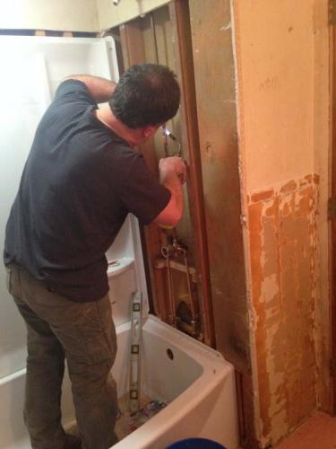 Braendel Services does everything for your custom bathroom...even plumbing installation!