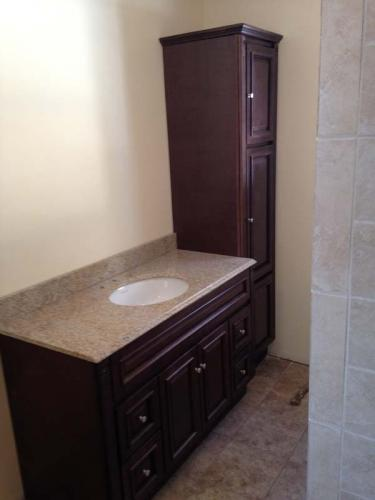 There's nothing like a brand new granite vanity in your custom bathroom.
