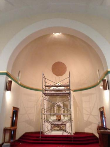 A closer shot of the alter area, which is actively being restored by the Braendel team.