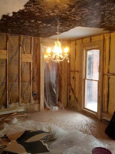 Next up on this renovation, the Braendel team will be working on the ceiling!