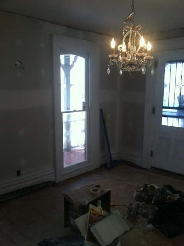 A shot of the walls and windows of a residential space that Braendel overhauled during a residential renovation project.
