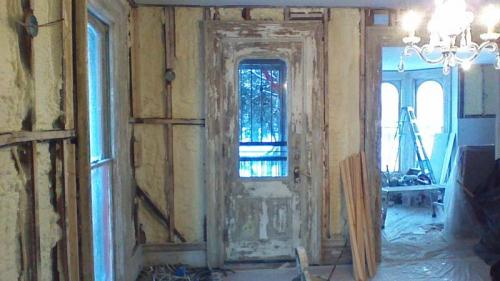 Gutting a property before undertaking a massive renovation project in Erie, PA.