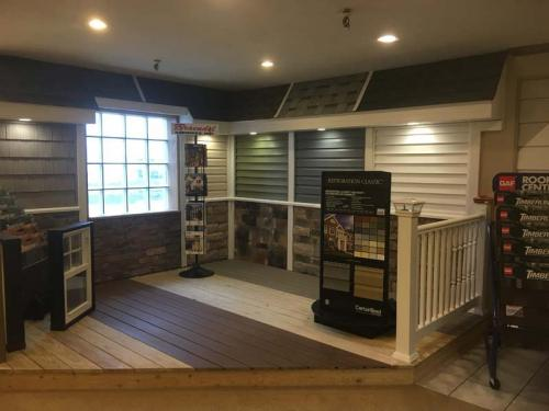Our expansive showroom has space to display some of the options available for you when choosing new siding, decking, and more.