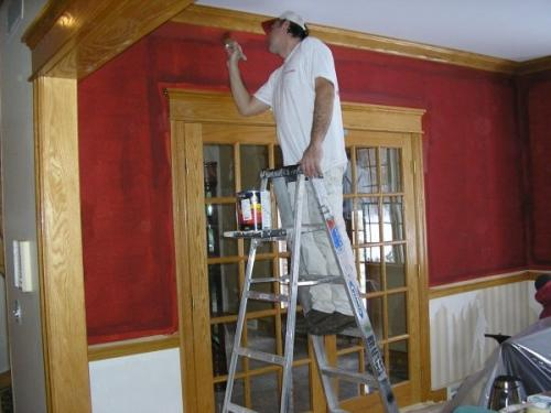 The Braendel team going to work on an interior paint job in Erie, PA.