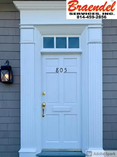 Braendel installs gorgeous new doors, like this white one here, for customers in the Erie, Pennsylvania area.
